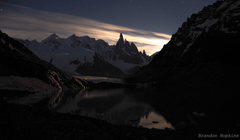 Cerro Torre at night shortly after ringing in 2015
