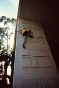 "Rock Climbing Photo: ""English High Step"", 5.10 (R). 1983"