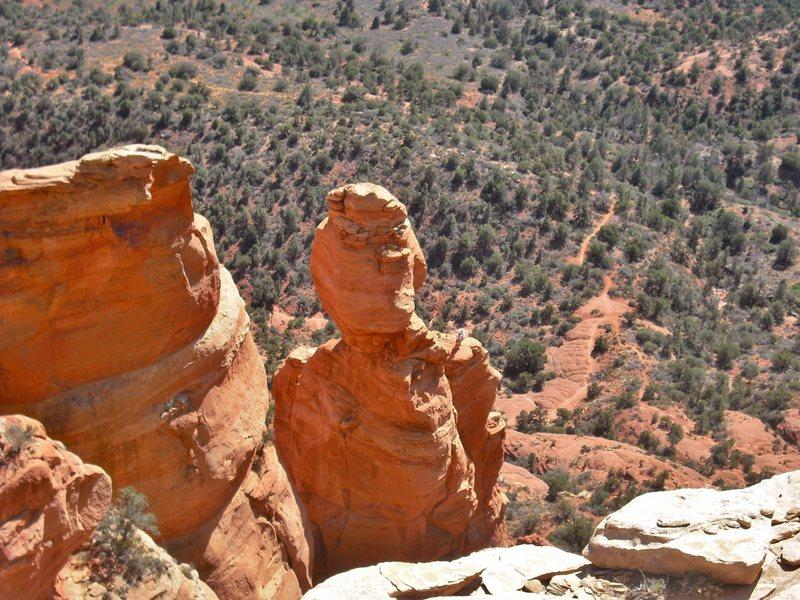 Rock Climbing Photo: Summit Block Rock from the summit of True Grit. Cl...