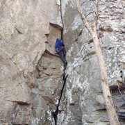 Rock Climbing Photo: This is my onsight ATTEMPT. The business begins he...