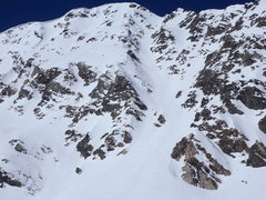 Rock Climbing Photo: East face with Dead Dog Couloir just right of cent...