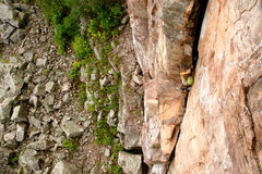 Rock Climbing Photo: Evan on a smooth and impressive lead of this excel...