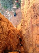 Rock Climbing Photo: Crawlin into the Corndog.
