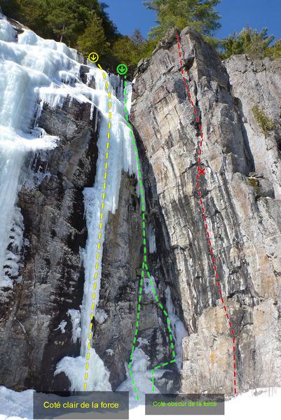 Rock Climbing Photo: Coté clair de la force Coté obscur de la force D...