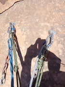 Rock Climbing Photo: Anchors for Billy's Ghost Dance.