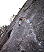 Rock Climbing Photo: Peter Hayes midway. Fall, 1980