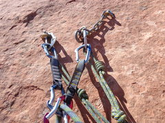 Rock Climbing Photo: Anchors for Mo Verde.