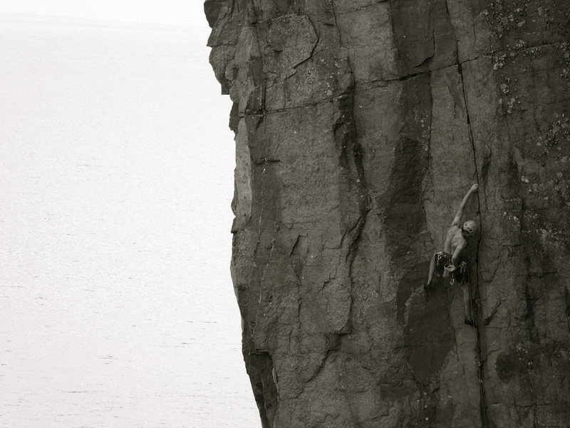 A fantastic, obvious route towering over Lake Superior.