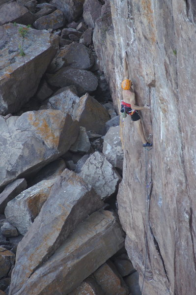 Even though most of this route goes on gear, it contains excellent face climbing.