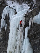 "Rock Climbing Photo: ""Valentin"" (WI5+, 30m)  Nils in the uppe..."