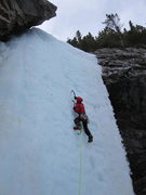 Rock Climbing Photo: Pitch 1, late season.