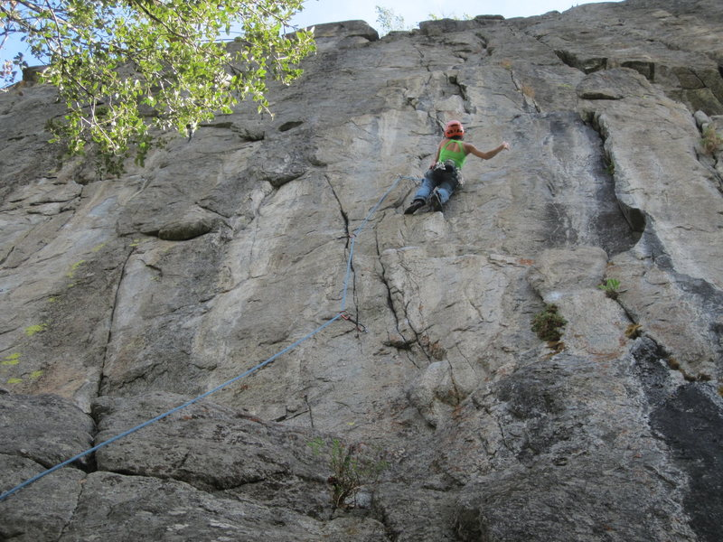 Rock Climbing Photo: The last shake before the crux above the 5th bolt....