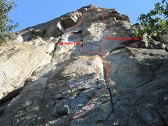 Rock Climbing Photo: The route from the base