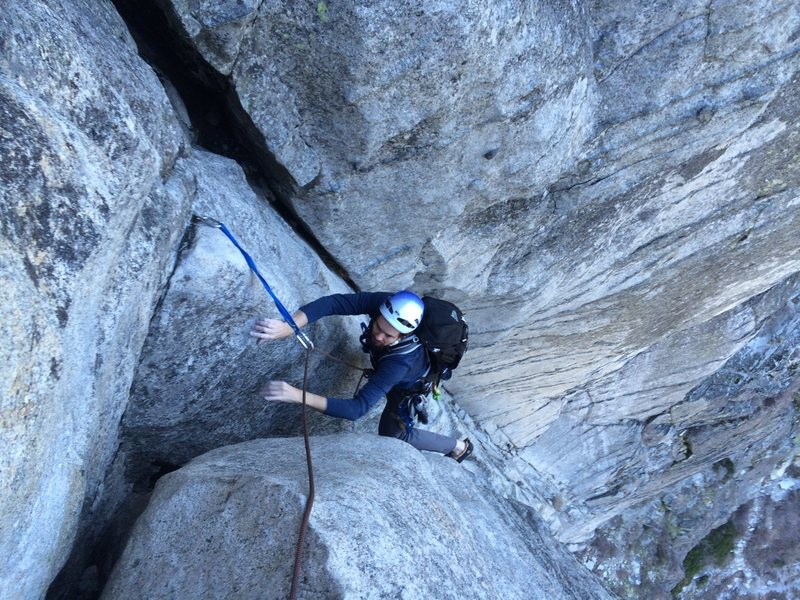Rock Climbing Photo: Corrugation Corner