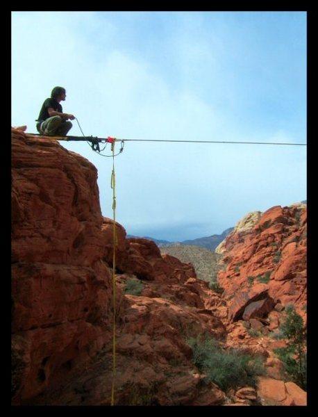 Highline in red rocks NV