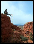 Rock Climbing Photo: Highline in red rocks NV