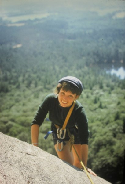 Tana Cathcart . Tana had only climbed a couple of days before seconding six first ascents up to 5.7 on the same day Aug 7th 1973. These were the first routes on Rainbow Slabs