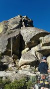 Rock Climbing Photo: At the top of p3 i believe. Looking up, just to th...
