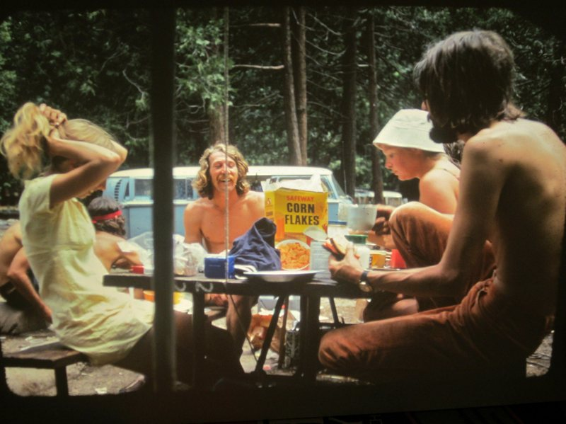 1973 .. Some weird bloke kept coming to the Brit Campsite .. I think he was after our corn flakes ?