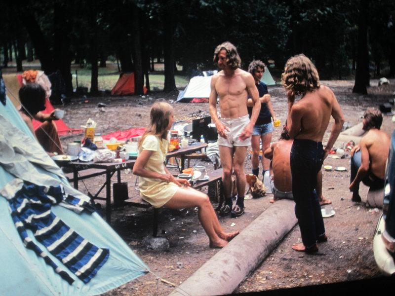 1973 Jim Bridwell ,George Homer and Nancy ,Richard MacHardy ... Brit Campsite.