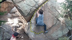 Rock Climbing Photo: Easy enough to spot, right behind Guiding Light. S...