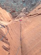 Rock Climbing Photo: Lisa Nelson follows pitch 2 of Out From the Shadow...