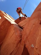 Rock Climbing Photo: Looking up Pitch 3