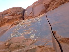 Rock Climbing Photo: Pitch 5 - climb the crack on the left side of the ...