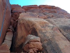Rock Climbing Photo: Pitch 4 climbs the crack on the face to the right ...