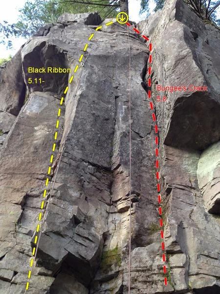 Rock Climbing Photo: Black Ribbon