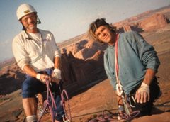 Rock Climbing Photo: Paul Ross and Jimmy Dunn on the summit about 2001