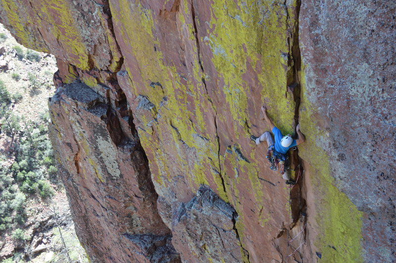 Crux time!<br> <br> Photo by Nick S.