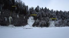 "Rock Climbing Photo: ""La Duguay"" (WI4, 10m)  Picture: J. Cola..."