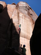Rock Climbing Photo: The steps to the left help make the start mellow. ...