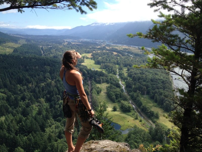 A day on Beacon Rock, Wa