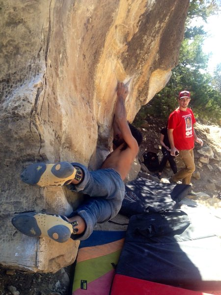 Rock Climbing Photo: Toe-day Junior!