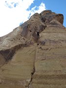 Rock Climbing Photo: Looking up Swiss Gentleman after the rap - differe...