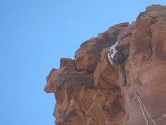 Rock Climbing Photo: Hitting the summit cap.