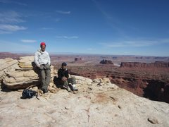Rock Climbing Photo: Lounging on the summit enjoying the world class vi...