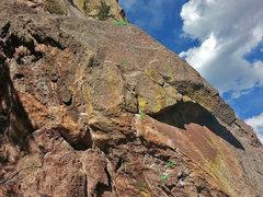 Rock Climbing Photo: Os are original hardware. Xs are new hardware.