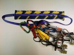 Rock Climbing Photo: Simple Gear Sling, Racked-Up!