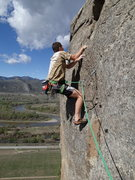 "Rock Climbing Photo: Climber starting up ""On Point"" on Windy ..."