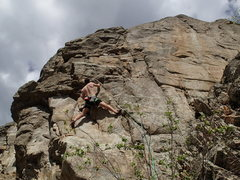 "Rock Climbing Photo: Climber near the start of ""No Exit"""