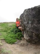 "Rock Climbing Photo: Getting setup for the reach for the top of ""S..."