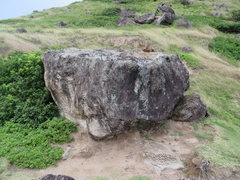 Rock Climbing Photo: Caudal Peduncle Boulder, from the east.