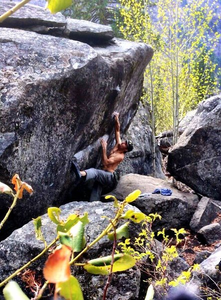 "Rock Climbing Photo: Exploring the ""coffee cup"" on a glorious..."