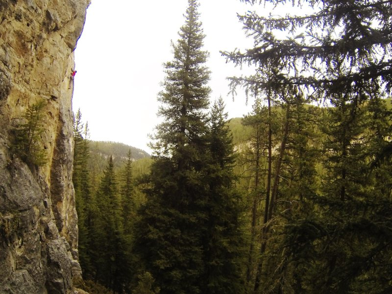 A great route with lots and lots and lots of five ten climbing!