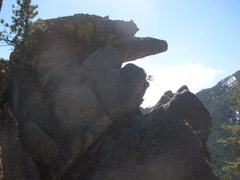 Rock Climbing Photo: Summit Block from north.