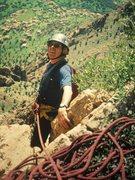 Rock Climbing Photo: Joe Brown ... On A FA>
