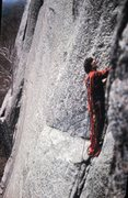 Rock Climbing Photo: John Porter on the first ascent 1972